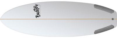 Riversurfboard 5'8 F Type Flosslände e2 welle