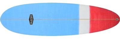 Egg Surfboard Artwork Blau Rot