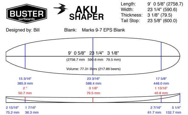 Longboard Surfboard Shape
