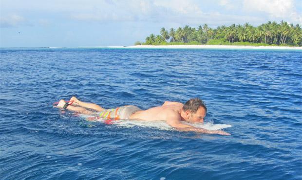 Richtige Lage Surfboard Kontrolle