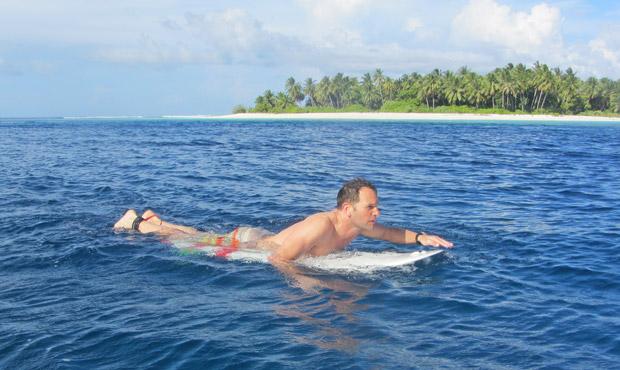 richtige Lage Surfboard