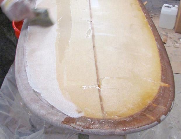Surfboard Blank laminieren