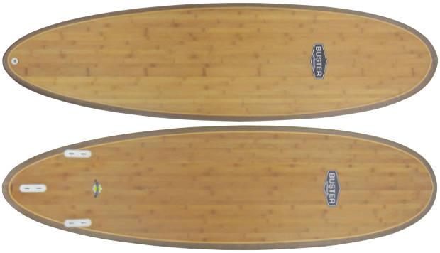 Holz Surfboard von oben und unten