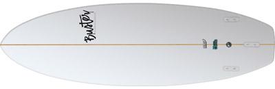 Riversurfboard 5'5 T Type Bottom