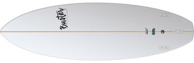 Riversurfboard 5'2 G Type Bottom