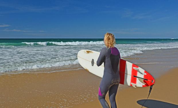 Surfen Wellenreiten Juni Frankreich