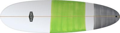 Egg Surfboard Shape grün grau