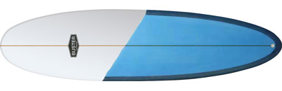 Mid Length Surfboard tinted resin