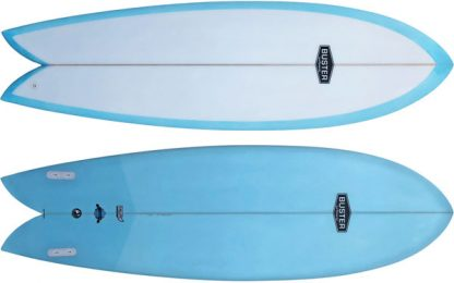 Retro Fish Surfboard Bottom Top