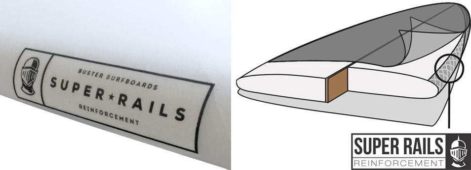 Surfboard Rail Verstärkung