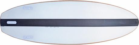Kork Surfboard Unterseite