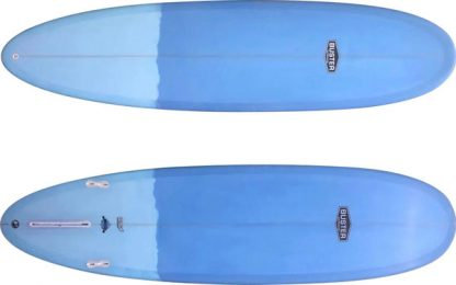 mid lenght surfboard top bottom