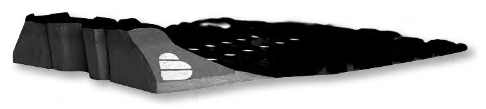 surfboard Footpad Tailpad Seite