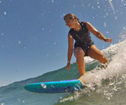 Mid length shape surfboard mexico