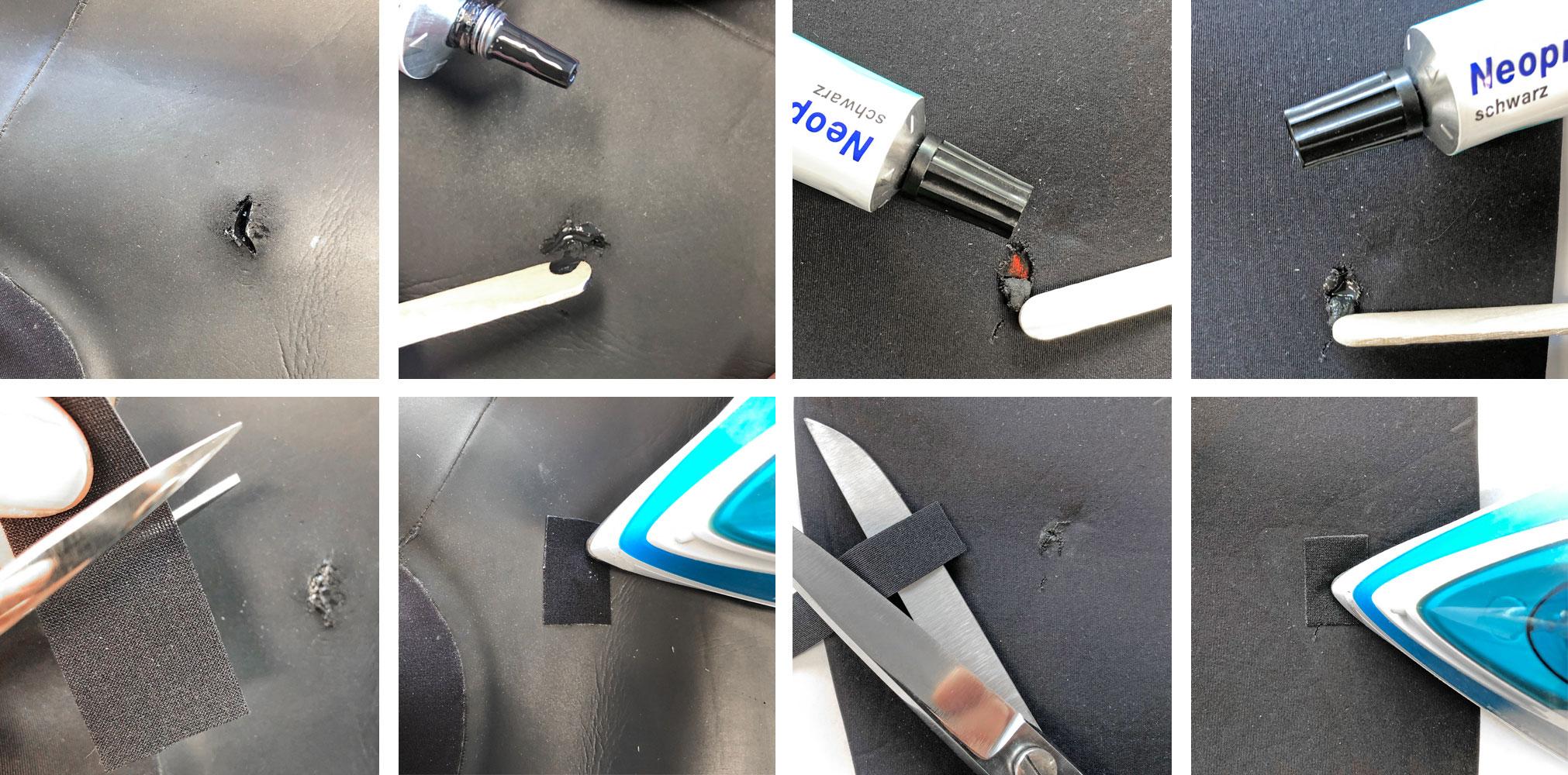Neoprenanzug reparieren Methoden