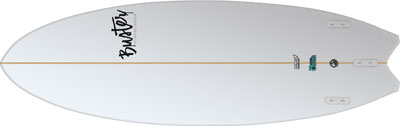 Buster Riversurfboard double Wing Tail Bottom